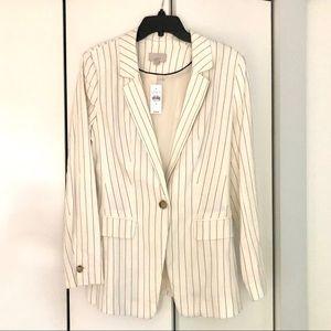NWT LOFT linen blend pinstripe blazer